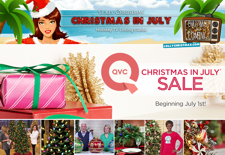 Hallmark Christmas In July 2019.Tv Schedule Christmas In July On Qvc Lollychristmas Com