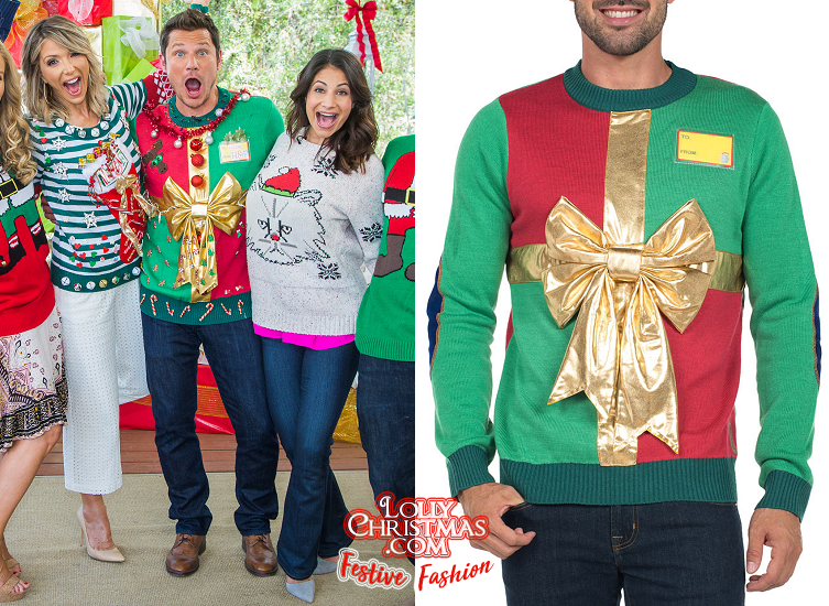 Ugly Christmas Family Pictures.The Lachey S Slip Into Ugly Christmas Sweaters For Home