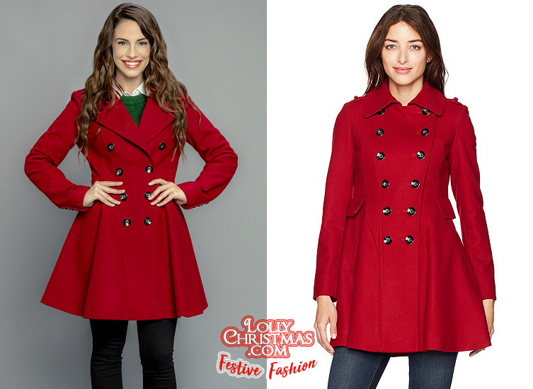 Jessica Lowndes' Red Coat & Lipstick