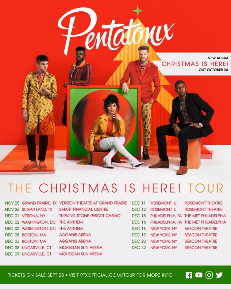 Pentatonix Christmas Album.Pentatonix Christmas Is Here Album Holiday Tour