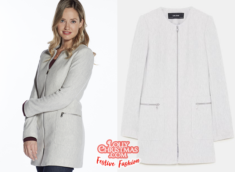 Christmas At The Palace.Merritt Patterson S Zipped Coat From Hallmark S Christmas