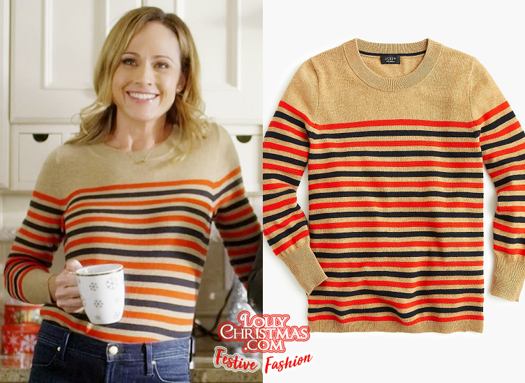 Reunited At Christmas.Get Nikki Deloach S Tops From Hallmark S Reunited At