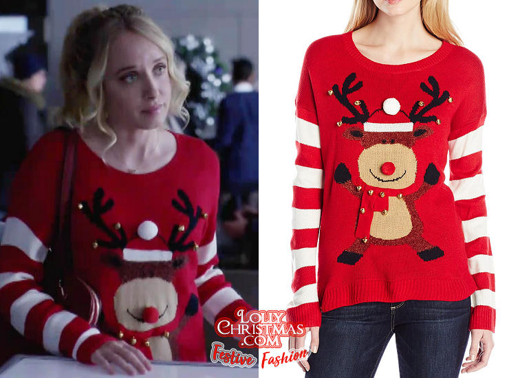 Time For Me To Come Home For Christmas.Megan Park S Sweater From Hallmark S Time For Me To Come