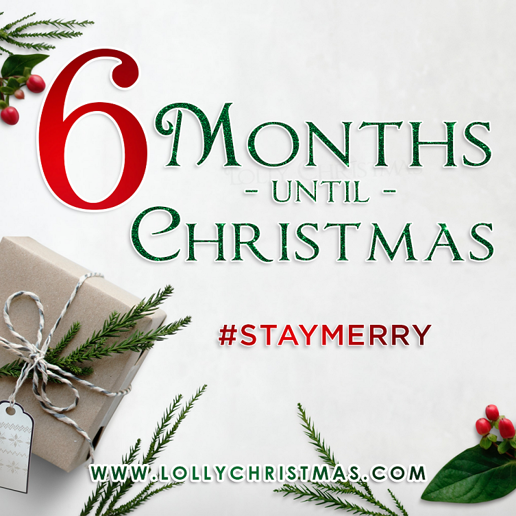 How Many Months Until Christmas 2019 It's 6 Months Until Christmas! – LollyChristmas.com