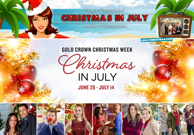 Hallmark Christmas In July Logo.Hallmark Movies Mysteries Gold Crown Christmas Week 2019