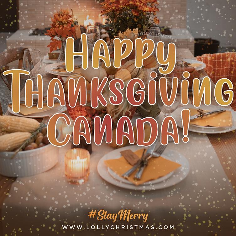 Happy Thanksgiving, Canada! 🍁